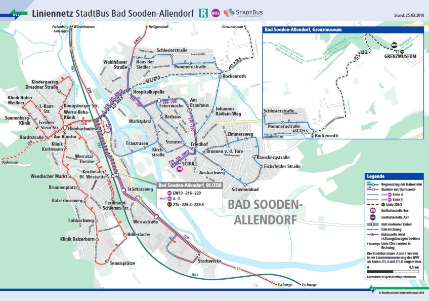 Liniennetz der Stadt Bad Sooden-Allendorf